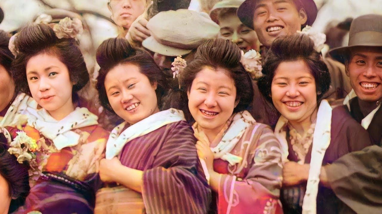 100年前の日本人の笑顔【カラー化・高画質化】