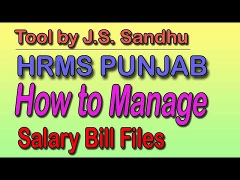 How to Manage HRMS Salary Bills Files- Tool by JS Sandhu - YouTube
