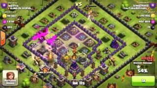 Clash of Clans Epic ALL Max Dragon Raid!!! 800k Resources