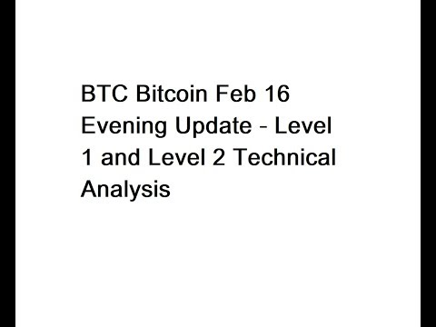 BTC Bitcoin Feb 16 Evening Update - Level 1 And Level 2 Technical Analysis