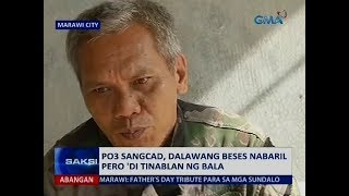 Saksi: PO3 Sangcad, dalawang beses nabaril pero 'di tinablan ng bala
