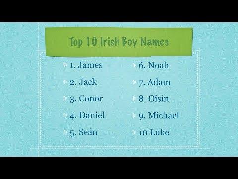Irish Names: Focus On The Top 10 Irish Boy Names