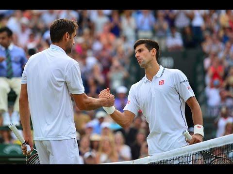 Novak Djokovic VS Marin Cilic Highlight (Wimbledon) 2014 QF