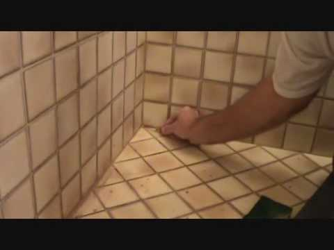 Applying grout: Blending in an inside corner grout \