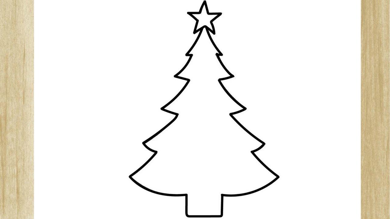 Como Desenhar Uma Arvore De Natal De Forma Simples Youtube