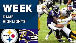 Steelers vs. Ravens Week 8 Highlights | NFL 2020
