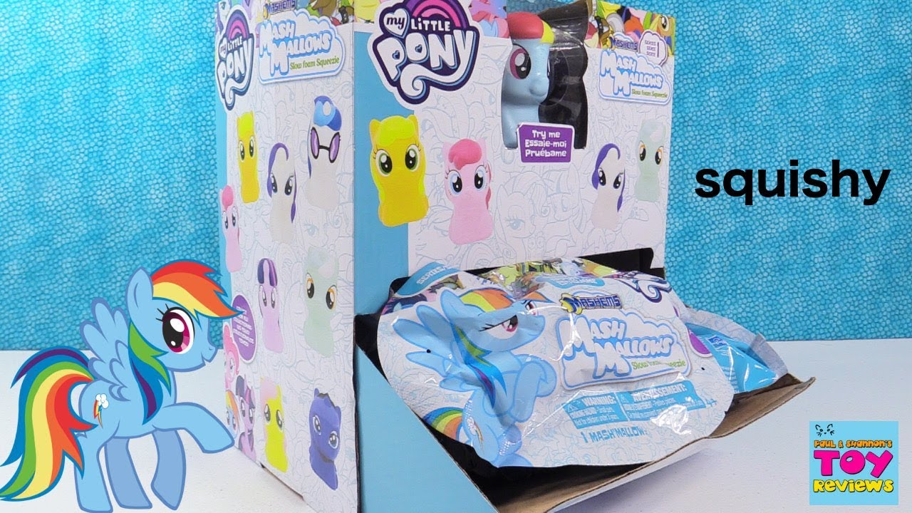 Mlp Squishy Toys : MLP Mash Mallows Fashems Mashems Squishy Squishies My Little Pony Toy Review PSToyReviews ...