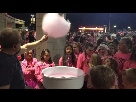 Cotton candy machine a huge hit at Brighton football game