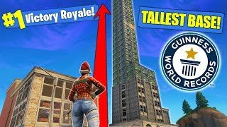 *NEW* RECORD TALLEST BASE In Fortnite Battle Royale!