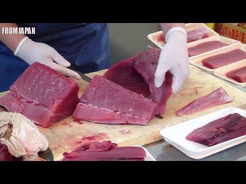 Amazing Tuna cutting and sushi sashimi and maguro making