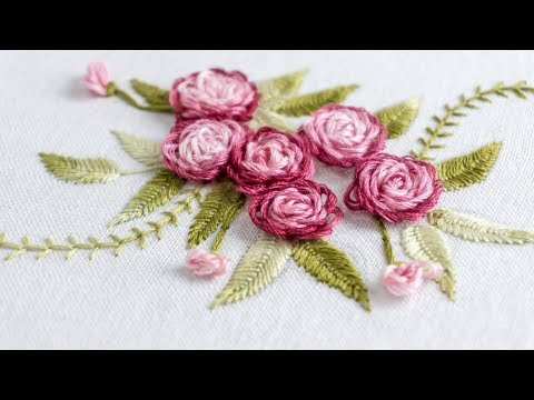 Hand Embroidery Stitch Your Flower Patterns With Handiworks