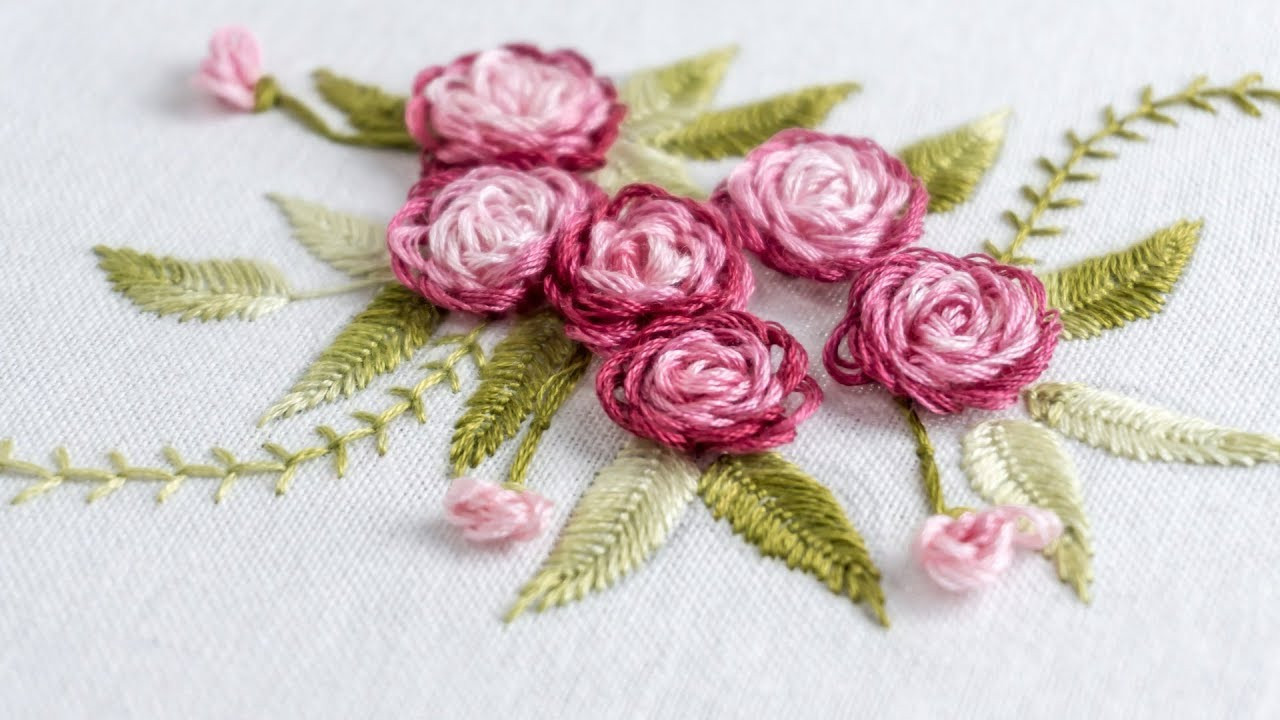 Hand Embroidery Stitch Your Flower Patterns With Handiworks Youtube