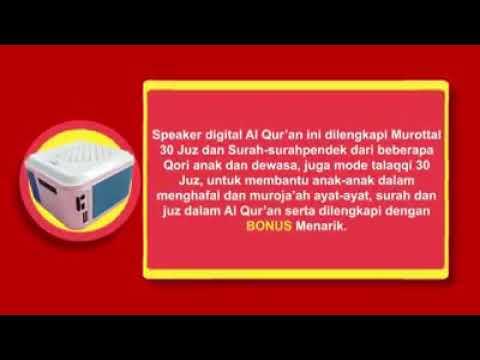 Isi speaker Audio Al Quran AdiAqu orginal cocok untuk kado anak anak soleh  islami pusat advance vdr