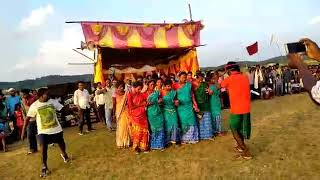 Folk song with dance of schedule tribes of jharkhand on karam pooja 2018