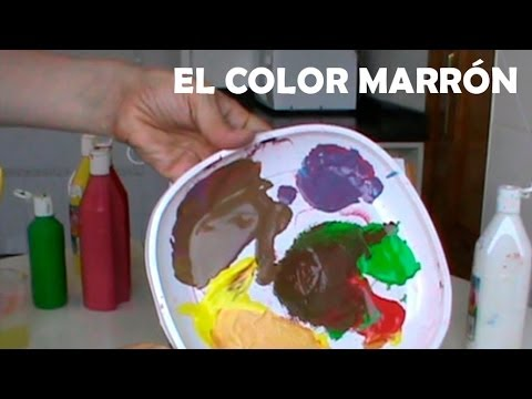 Mezclar colores el marr n c mo conseguir diferentes for Como se combina el color violeta