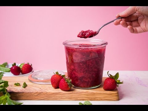 Instant Pot EASY Strawberry Compote 1-min. | 3-Ingredient | No Pectin & Added Sugar