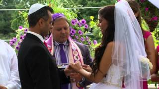 Exchange Of Rings & Vows A Russian Jewish Wedding Mension Event Center Aurora Video Photo Services