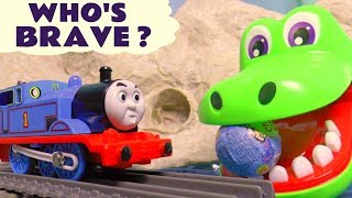 Thomas & Friends Who's Brave Kinder Surprise Eggs With Dinosaurs And Cro