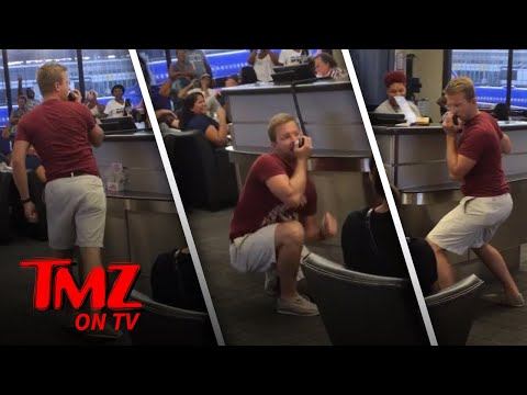 Airline Passenger Gets The Airport Singing! | TMZ TV