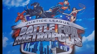 Repeat youtube video Six Flags St. Louis Justice League Battle for Metropolis On Ride POV and More! Part 1