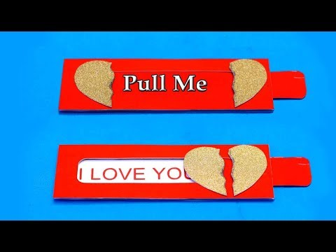 Easy Heart Slider Card Tutorial || Love Slider Card Tutorial || Card Making Idea || Paper Crafts