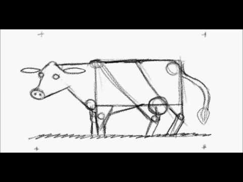 Cómo Dibujar Una Vaca Con Figuras Geométricas Youtube