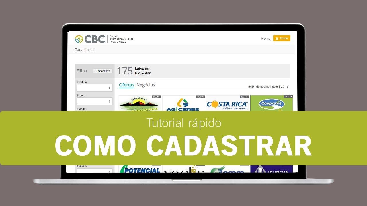 19701c8b6 Como Cadastrar na CBC Negócios