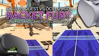 Oculus Quest Vs Oculus Go // Racket Fury: Table Tennis Graphics and Gameplay Comparison