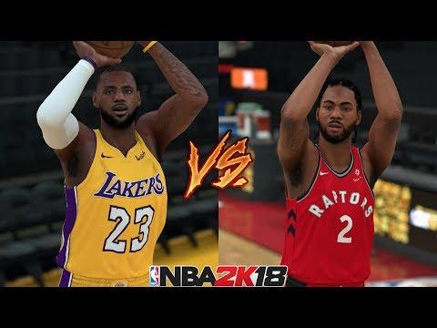 NBA 2K18 LeBron James vs Kawhi Leonard - 3 Point Contest