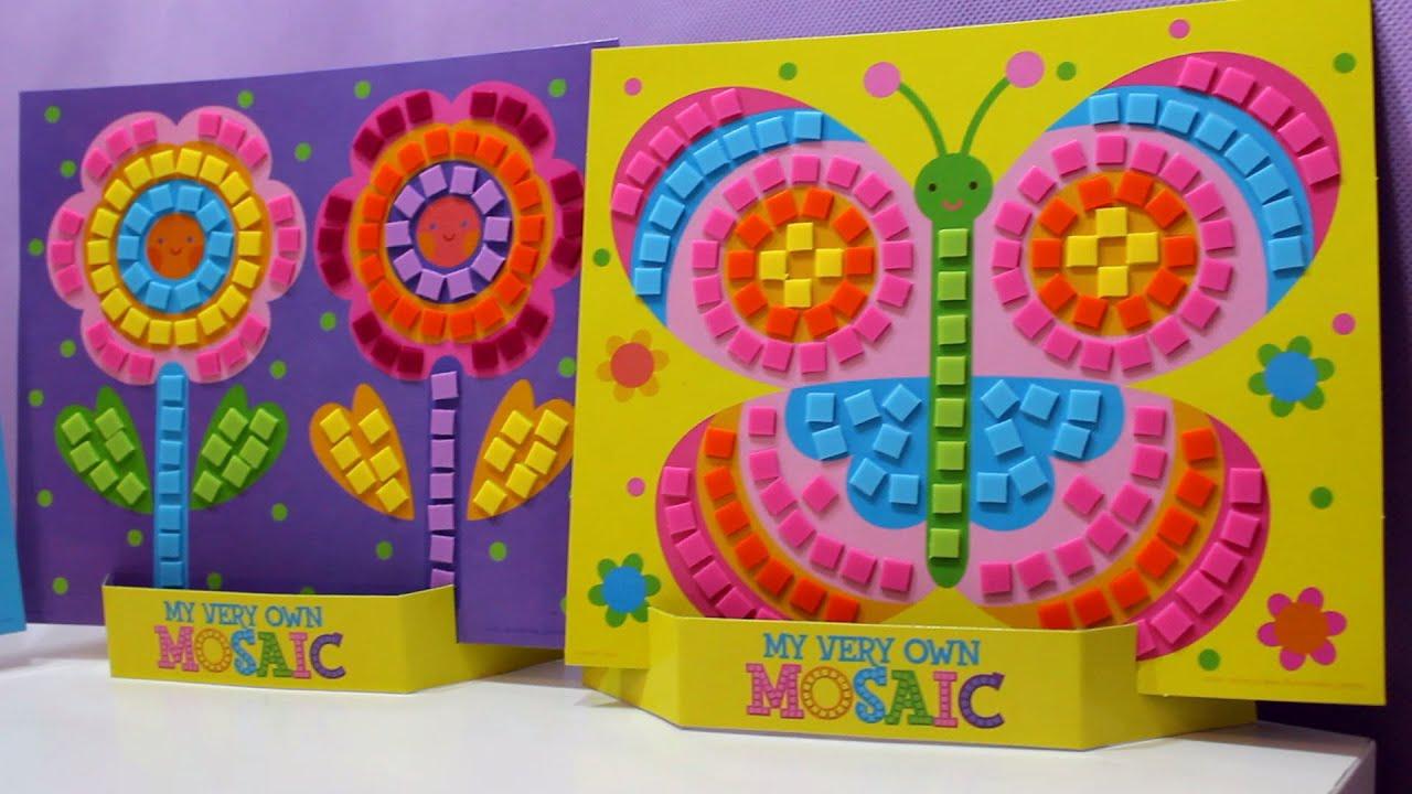 Mosaicos de colores hadas cupcakes mariposas y flores youtube - Mosaico de colores ...