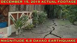 DAVAO CITY EARTHQUAKE DEC. 15, 2019 | ACTUAL FOOTAGE NG PAG BITAK NG LUPA AT PAGLABAS NG TUBIG!