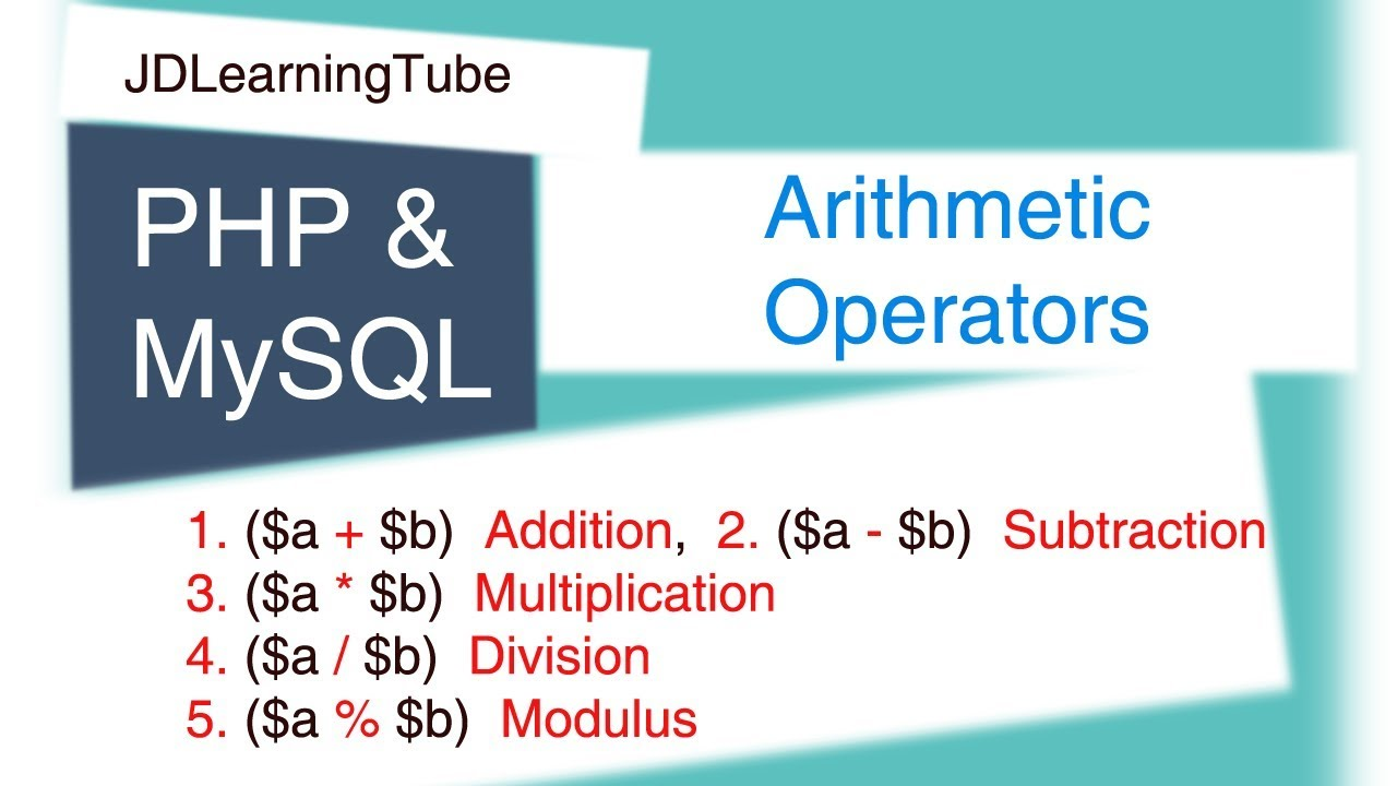 Php Arithmetic Operator, Addition, Subtraction, Multiplication ...