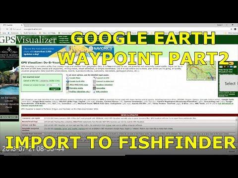 Coverting Google Earth waypoints to Humminbird - Texas