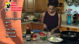 Vibes Cuisine Tv Show - Mushroom Sausage Chicken Pasta In Cream Sauce Recipe