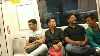 Boys Singing In Delhi Metro | Must Watch - Mere Raske Kamar (Nusrat Fateh Ali Khan)