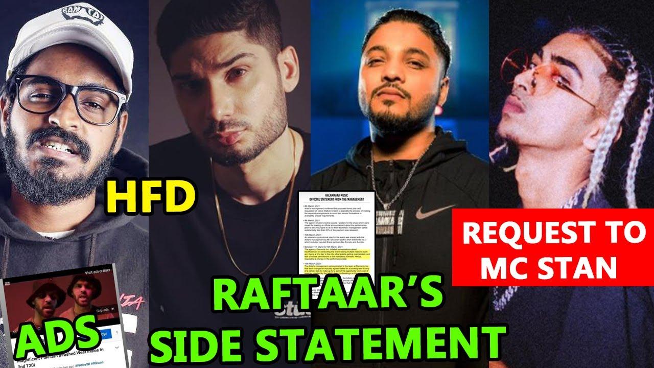 RAFTAAR MNGMT STATEMENT | REQUEST TO MC STAN | BRODHA V STORY | KING X BADSHAH | ITS ROHIT ZONE