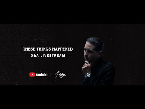 8a7d8eaf74 These Things Happened - G-Eazy Q A (Live from the YouTube Space ...