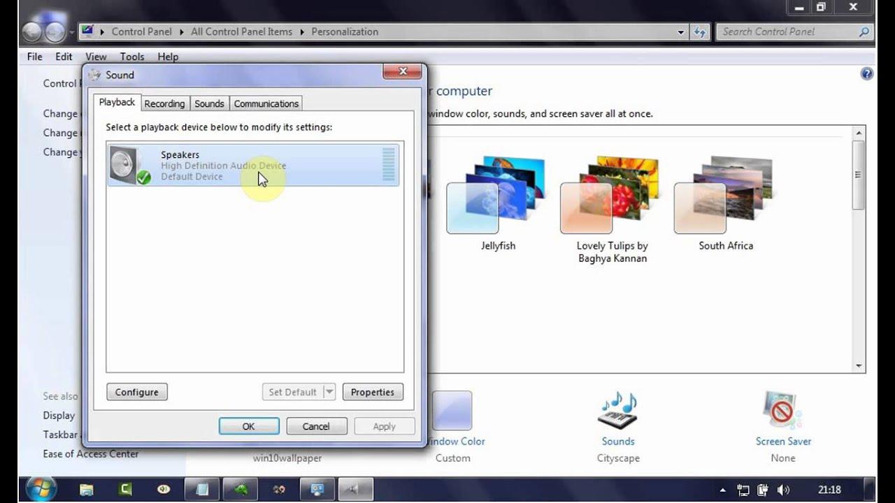 Windows 7 Tips : How to Enable or Disable High definition audio device  (Speaker)