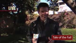 TALE OF THE FAIL - Bird poops right into reporter's open mouth