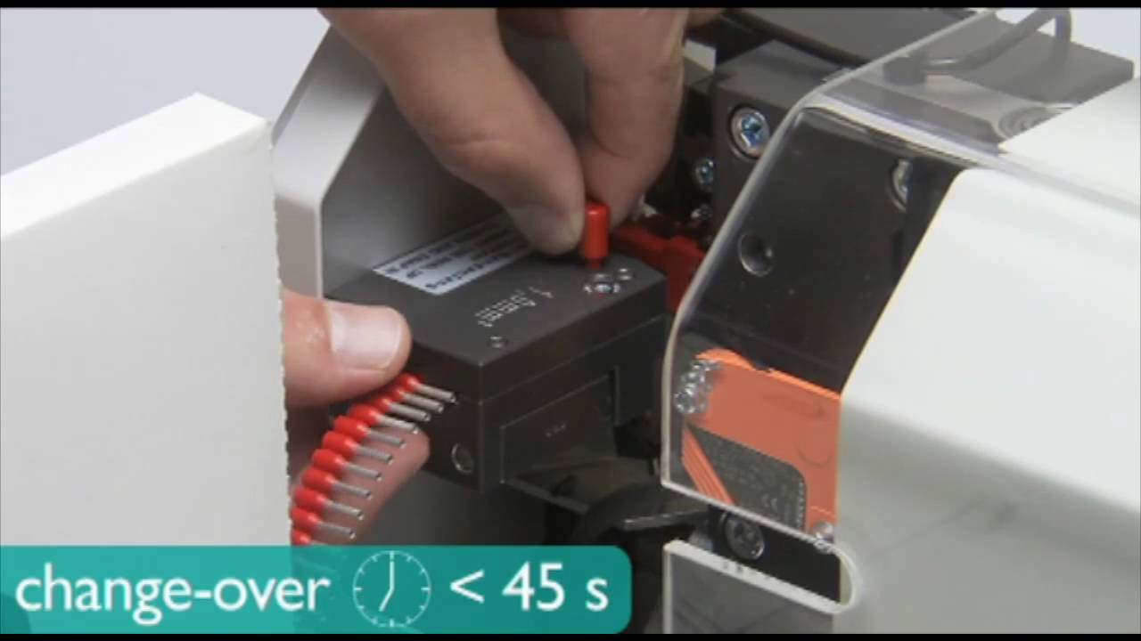 small resolution of cf 3000 automatic ferrule and wire crimping machine phoenix contact youtube