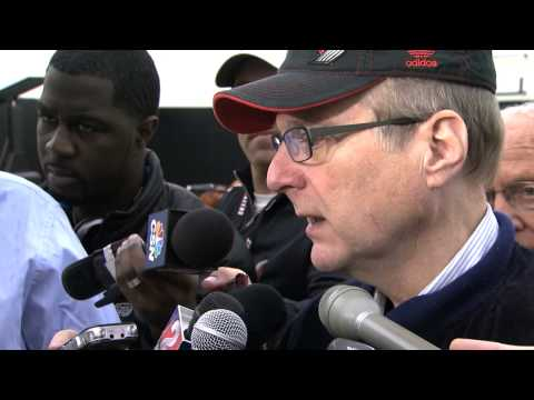 Paul Allen After Day One of Trail Blazers Training Camp