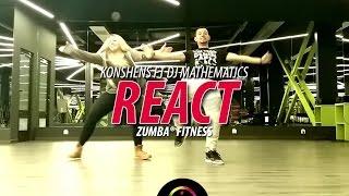 React - Konshens ft Dj Mathematics | Zumba Fitness Choreo