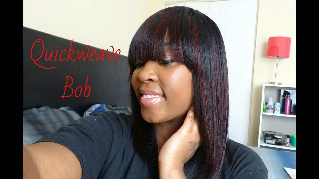 Quickweave Bob With Bang Youtube