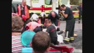 Portes ouvertes pompiers soignies: Démonstration de désincarcération Partie 2