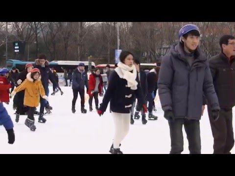 Explore TV - South Korea - Seoul City Hall Square Ice Skating