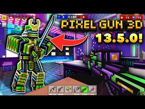 MEGA CYBER SAMURAI!!   Pixel Gun 3D - New Update 13.5.0 [Review]