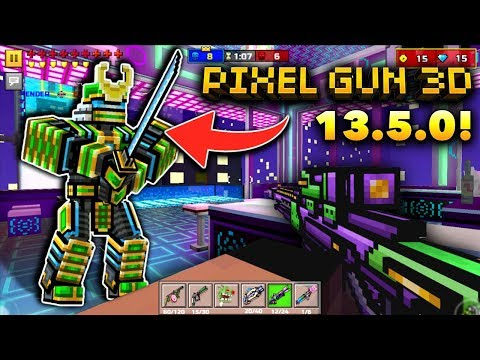 MEGA CYBER SAMURAI!! | Pixel Gun 3D - New Update 13.5.0 [Review]
