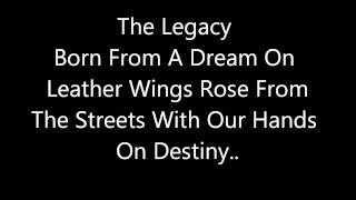 Black Veil Brides - Legacy Lyrics Video