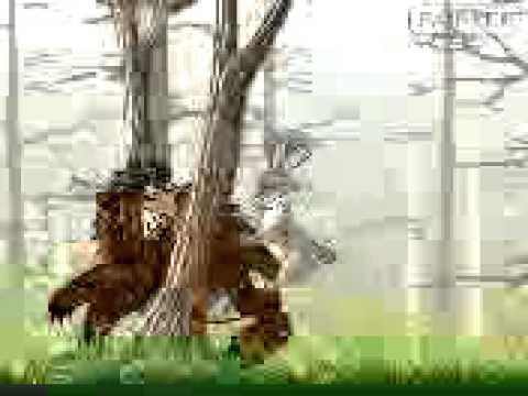 заяц трахает медведя