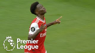 Bukayo Saka's half-volley puts Arsenal in front of Wolves   Premier League   NBC Sports
